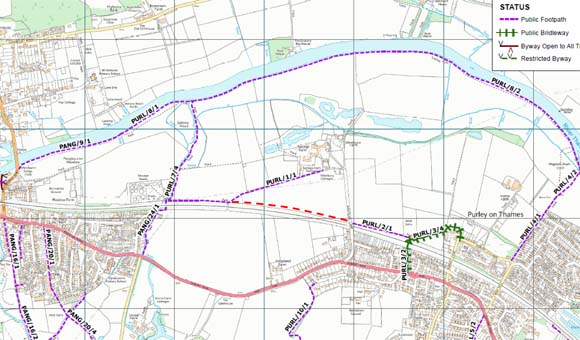 Springs Farm Footpath Map